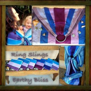 Mermaid Cove Ring Sling Baby Carrier Cotton Plum Weft