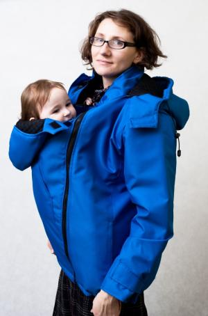 Lenny Lamb Blue Dual Panels Baby Wearing Coat